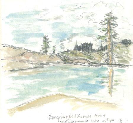 High Sierra Granite Lake Near Powel Lake above Pinecrest