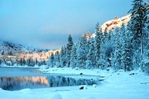 Winter Alpine Glow